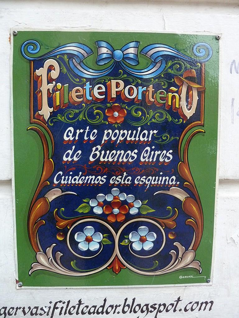 Fileteado in Buenos Aires | © mertxe iturrioz / Flickr