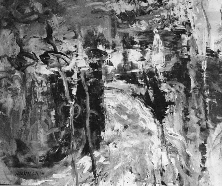 """Martin Villalonga's """"Río,"""" acrylic on canvas, 2016"""