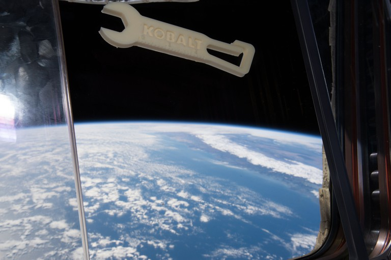 A 3D printed wrench in the International Space Station