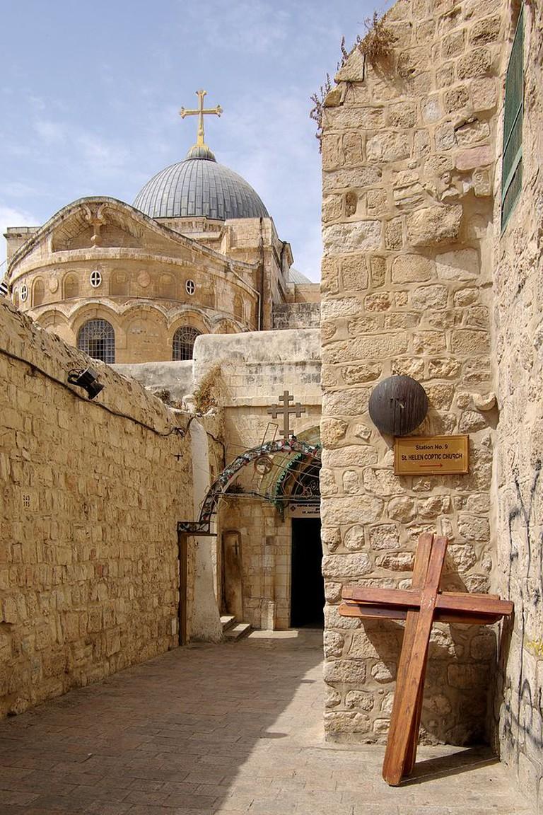 Station IX on the Via Dolorosa in Jerusalem