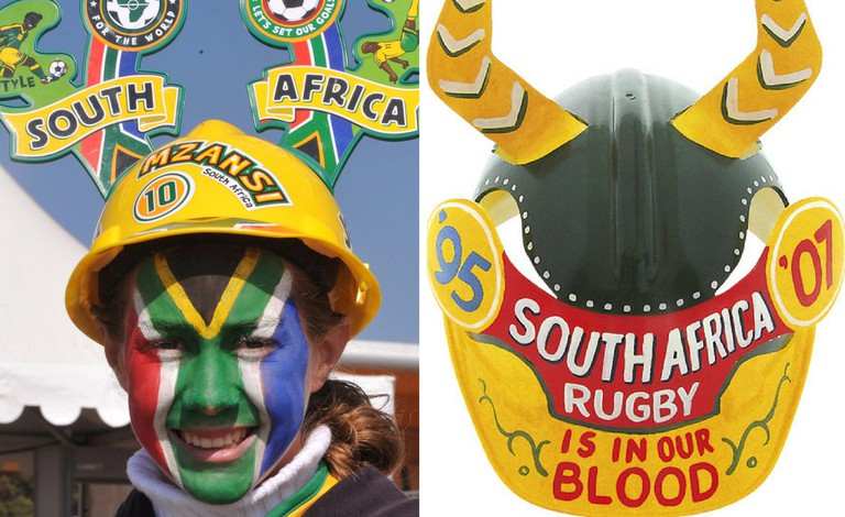 Makarapa hats are spotted at most South African sporting events