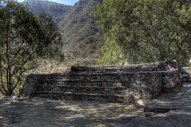 Ruins in Malinalco