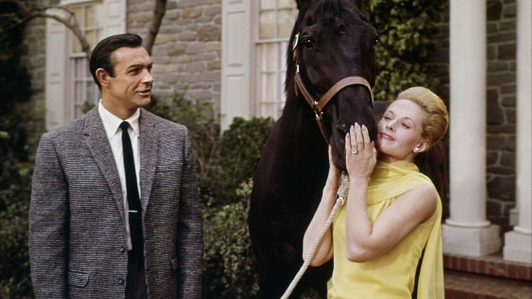 Sean Connery and Tippi Hedren in Marnie