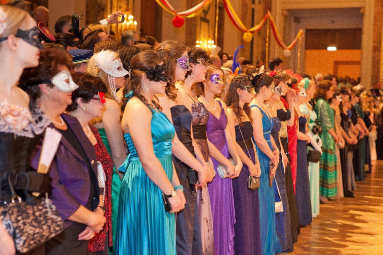 The masked ladies at the ball