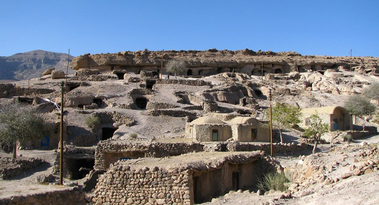 The ancient village of Meymand is carved in stone