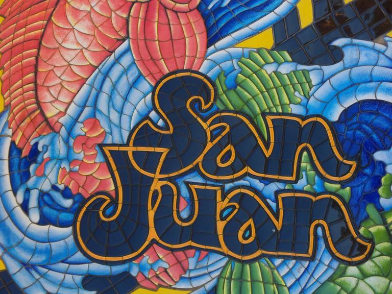 Mosaic of the name San Juan