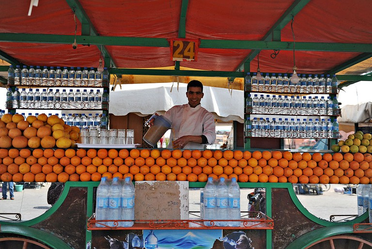 Orange juice seller