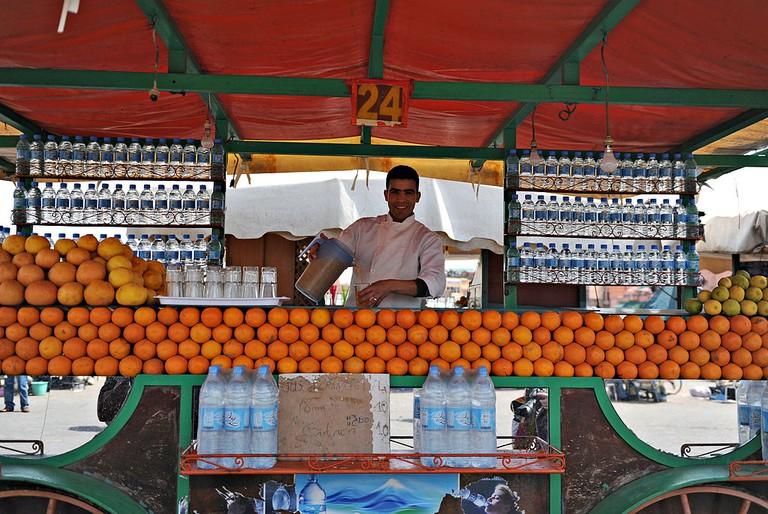 Orange juice seller