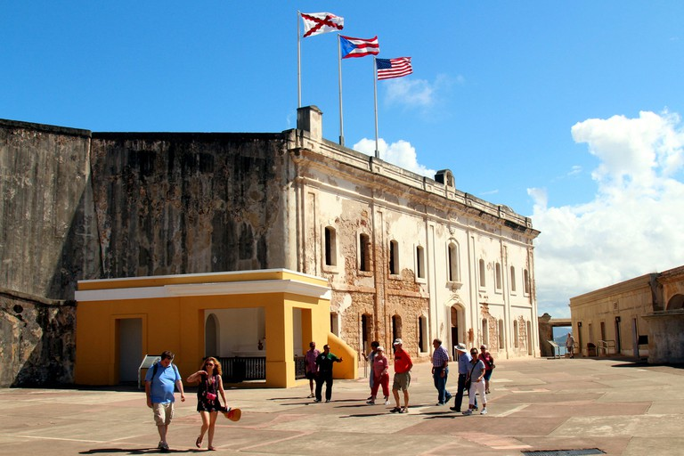 Part of Fort San Cristobal interior