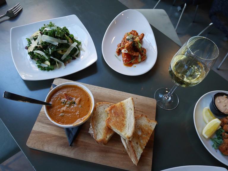 Food dishes at Prank Bar