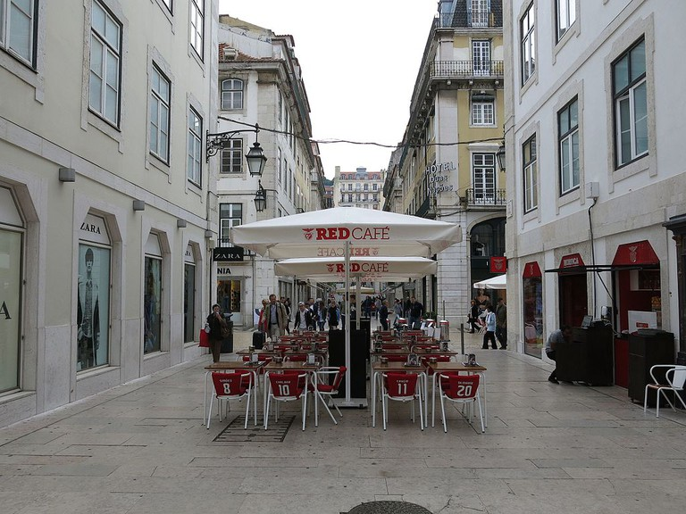 One of Lisbon's many cafés with terrace seating