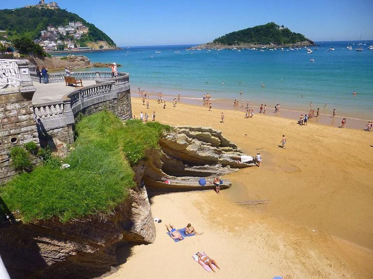 Playa de la Concha, San Sebastián, Spain