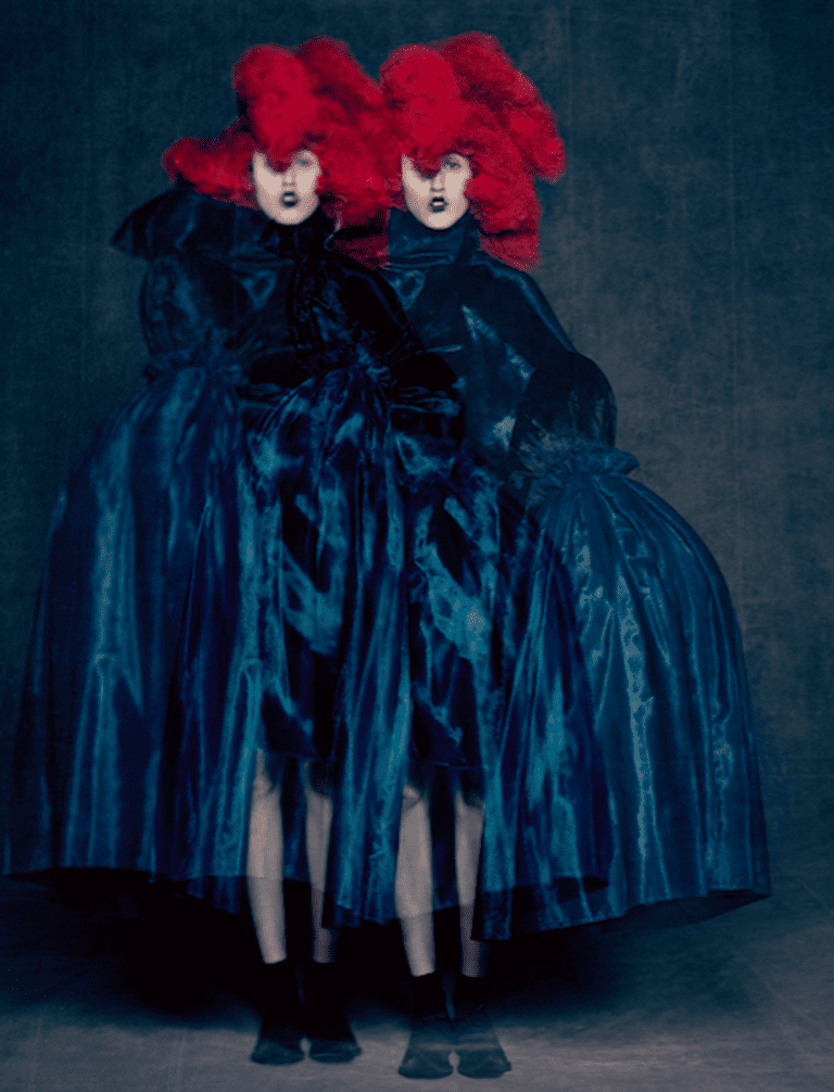 Rei Kawakubo (Japanese, born 1942) for Comme des Garçons (Japanese, founded 1969), Blue Witch, spring/summer 2016; Courtesy of Comme des Garçons. Photograph by