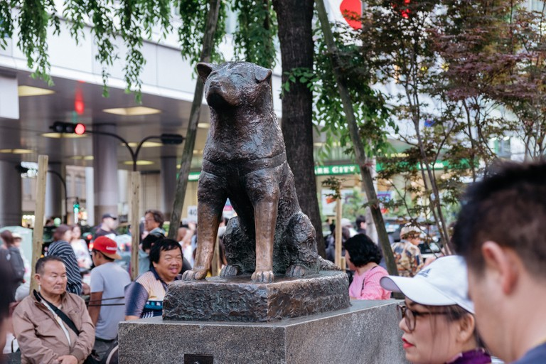 The statue of Hachiko is a popular spot for photos.