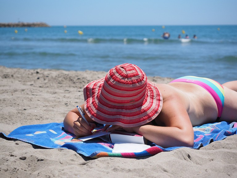 Alice Town beach is ideal for sunbathing