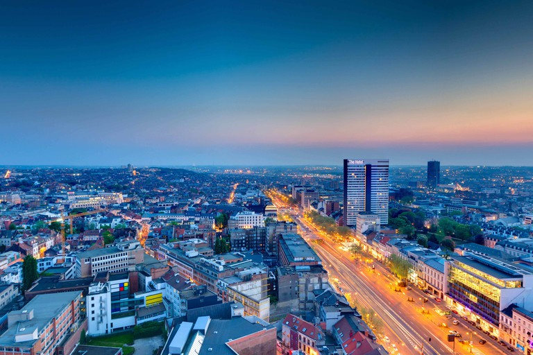 The Hotel to the right, towering above Brussels' high-end Boulevard de Waterloo | © Olivier Pirard / courtesy of The Hotel