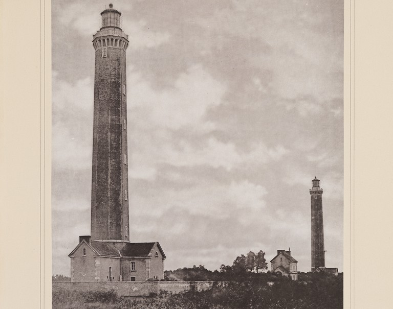 The two lighthouses of La Canche in 1883