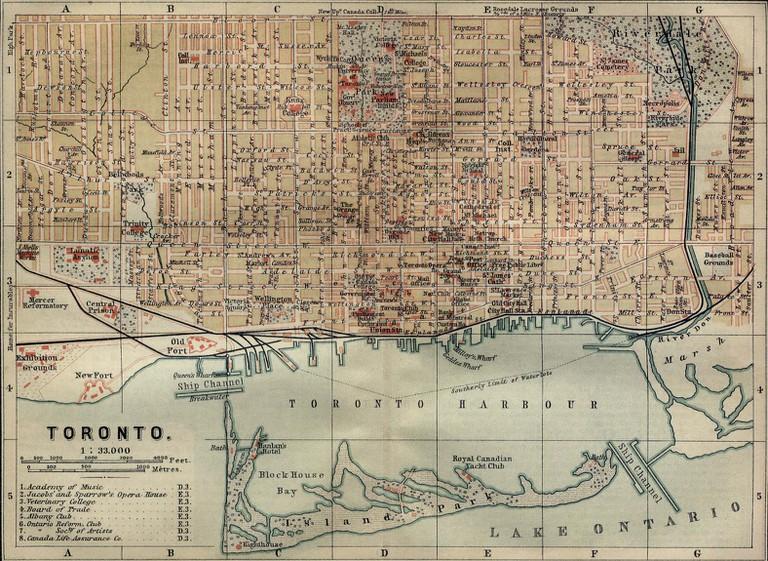 Map of Toronto, 1894