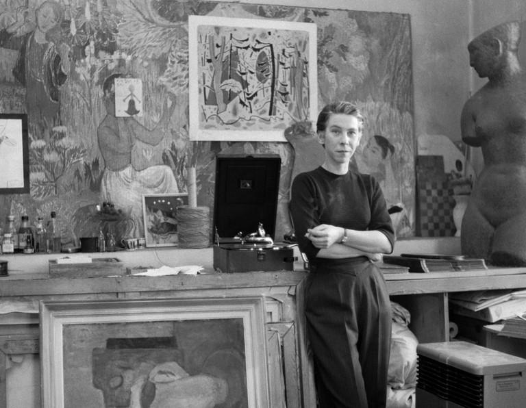 Tove Jansson in her studio/