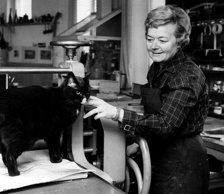 Tuulikki Pietilä in her studio/ Wikicommons