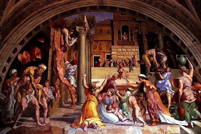 Vatican Museum Raphael – The Burning of the Borgo