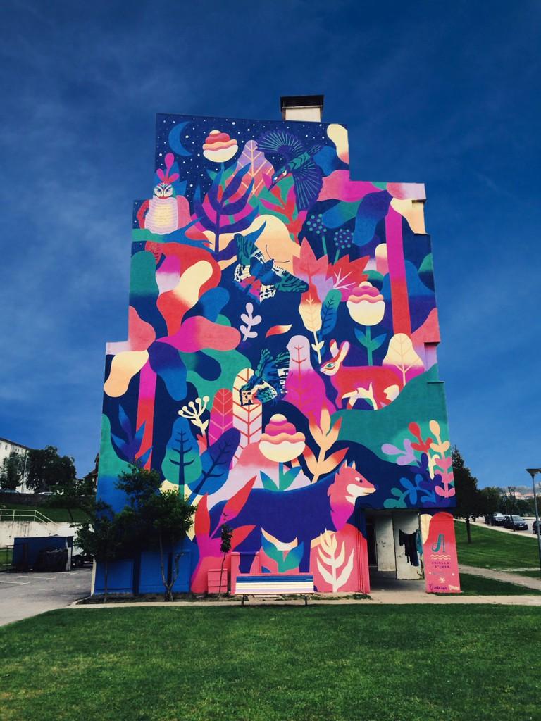 Building Art in Viseu, Portugal