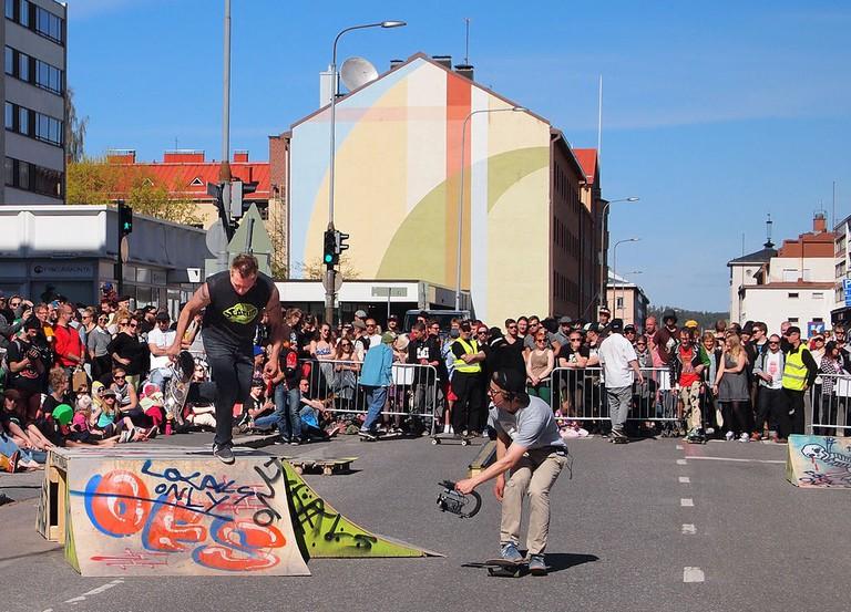 Yläkaupungin_Yö_-_skateboarding