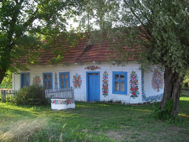 A cottage in Zalipie, the painted village