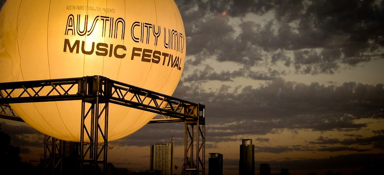 Sunset over ACL Music Festival