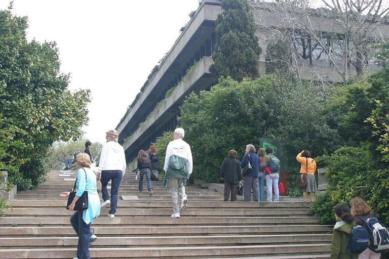 Outside the Calouste Gulbenkian Museum