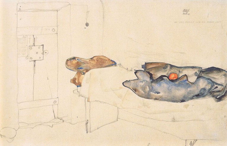 Egon Schiele, Die eine Orange war das einzige Licht 19-4-1912