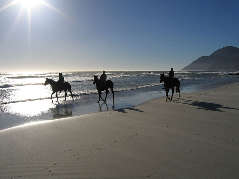 Horseback riding on Noordhoek Beach, Cape Town