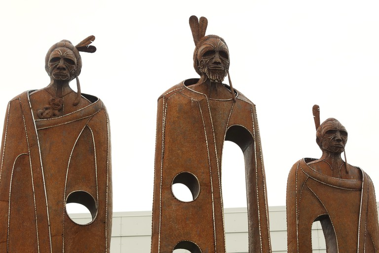 Sculpture Outside Queenstown Airport