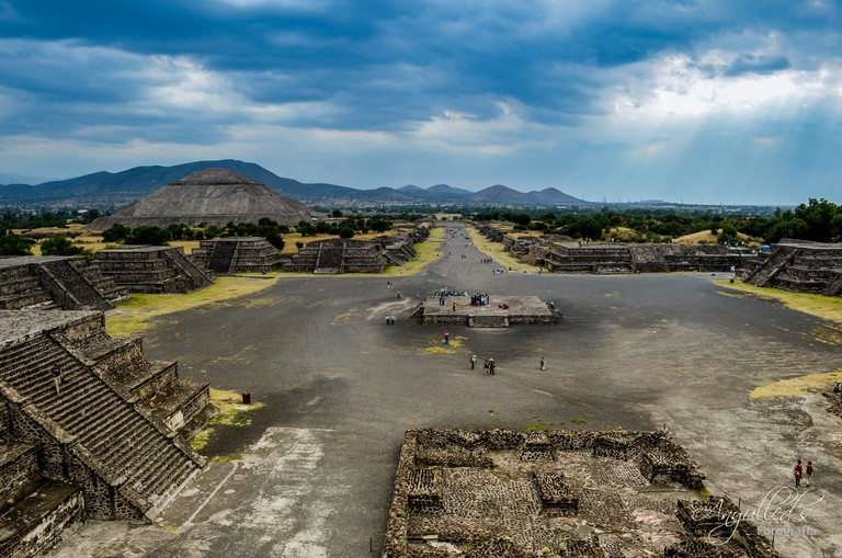 Teotihuacán, as seen from the Pyramid of the Moon