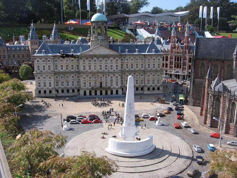 The miniature Royal Palace Amsterdam at Madurodam