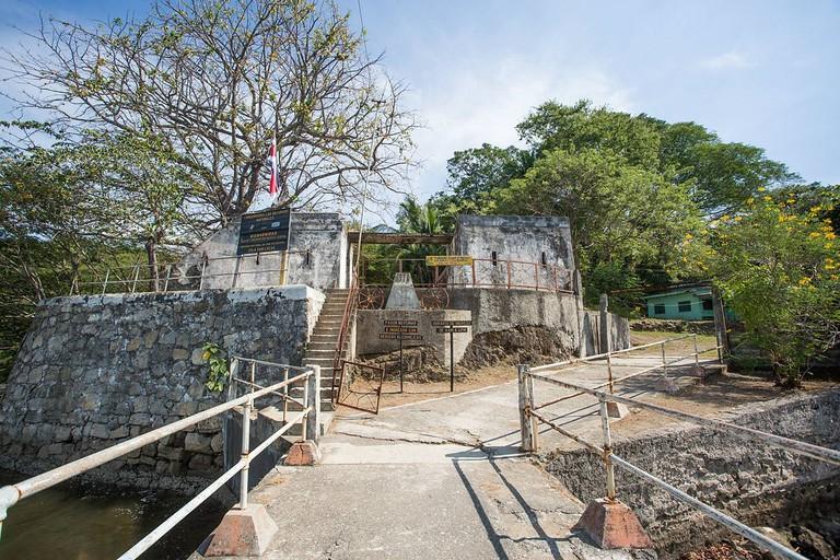 Muelle principal de la Isla San Lucas, Puntarenas, Costa Rica