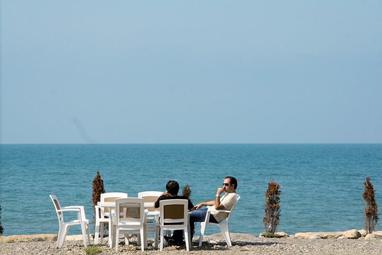 Relaxing by the Caspian