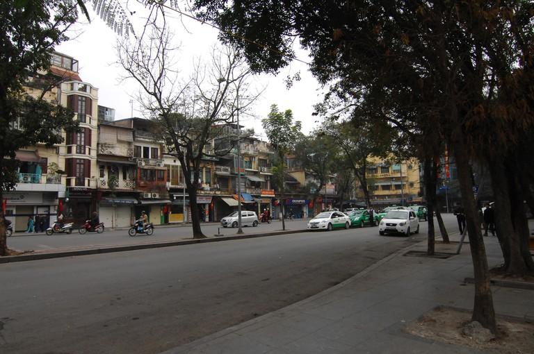 An empty Hanoi during New Year