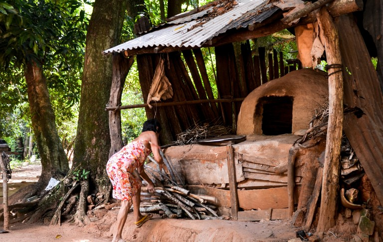 Cooking with a traditional oven