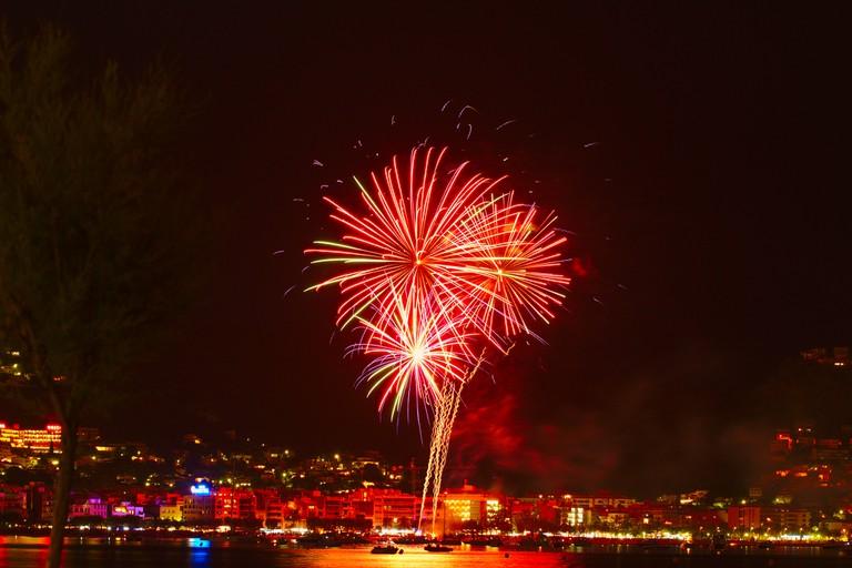 Midsummer fireworks in Catalunya, Spain