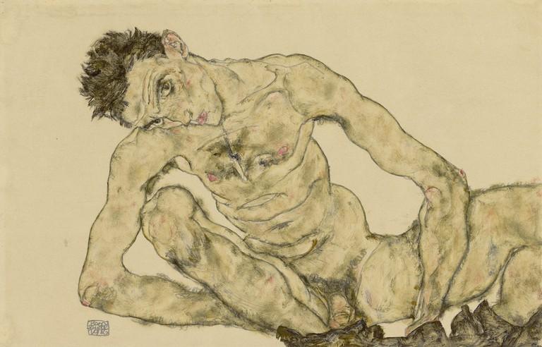 Egon Schiele, Nude self-portrait, 1916