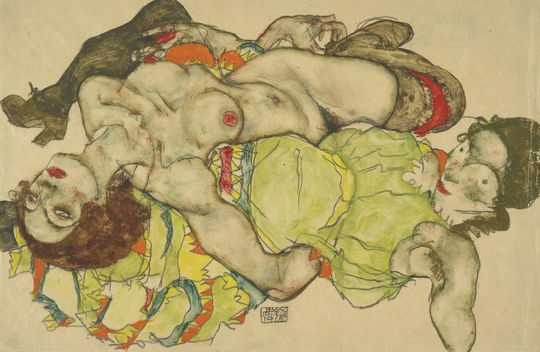 Egon Schiele Female couple, 1915 Albertina, Vienna