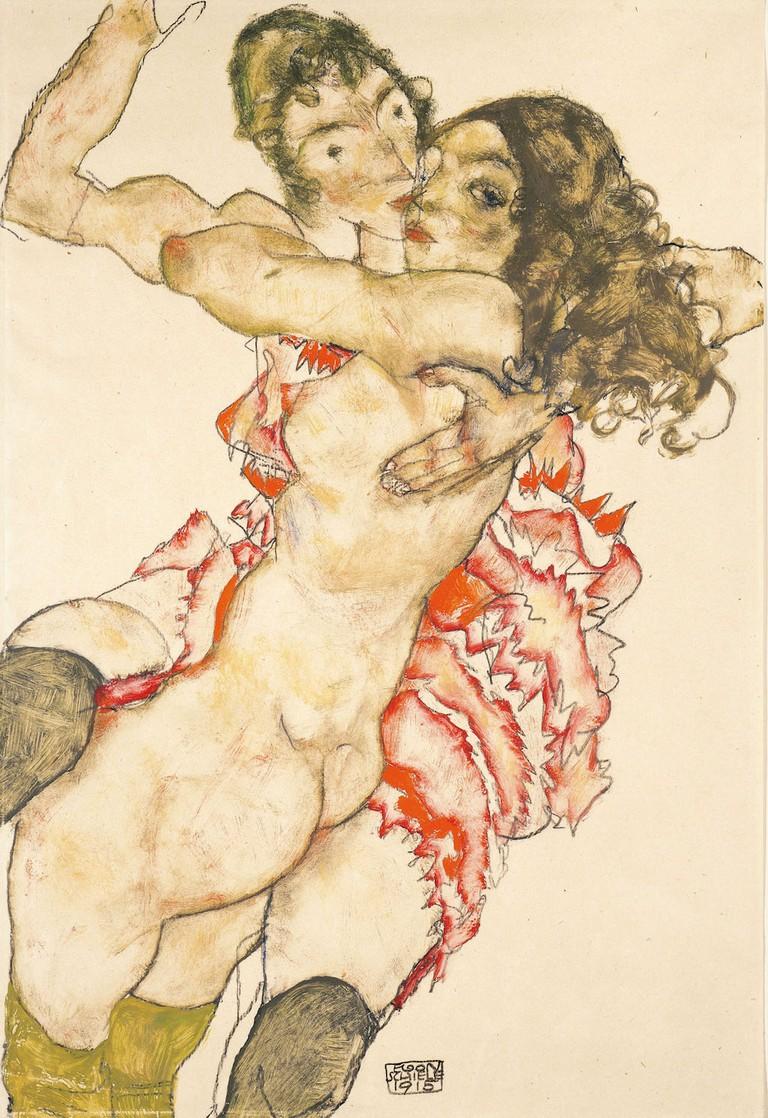 Egon Schiele Two Girlfriends, 1915