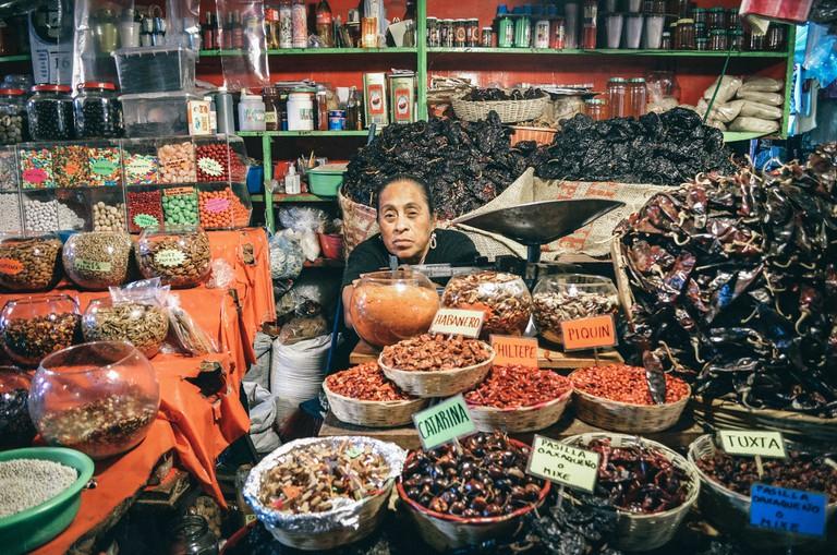 Mexican market vendor
