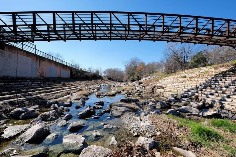 A bridge across Shoal Creek