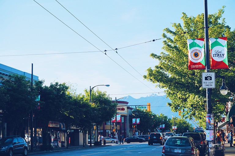 Along Commercial Drive