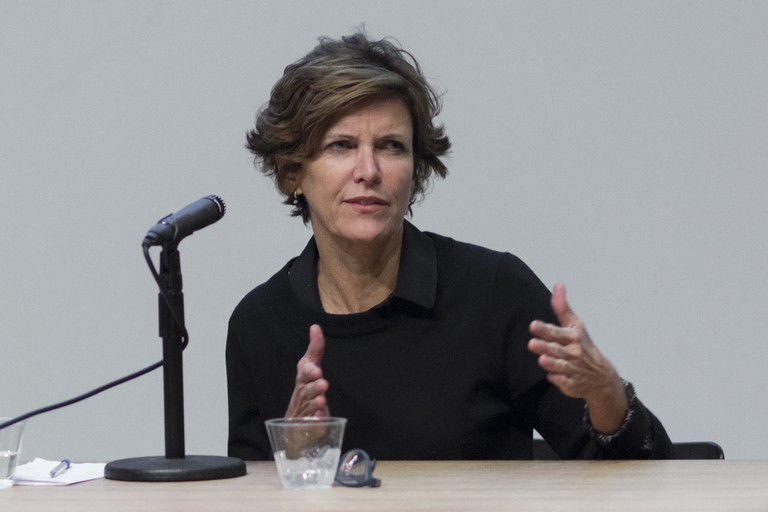 Jeanne Gang talking at Columbia College in 2015 | © Columbia GSAPP/Flickr