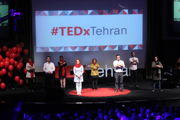 Speakers of TEDx Tehran event, which is organized annually