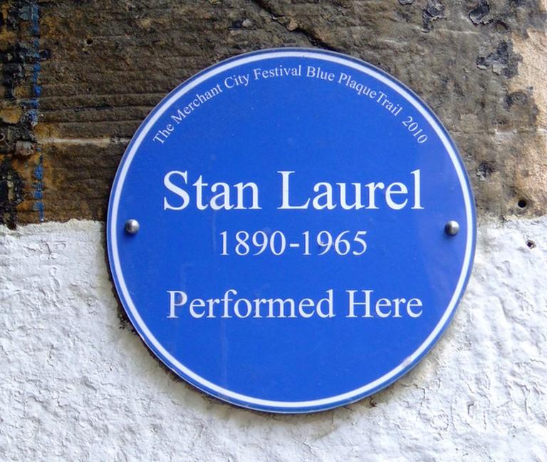 Stan Laurel Plaque Outside Britannia Panopticon | © Thomas Nugent/Geograph
