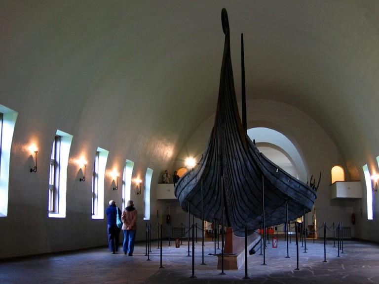Oseberg ship at Vikingskiphuset